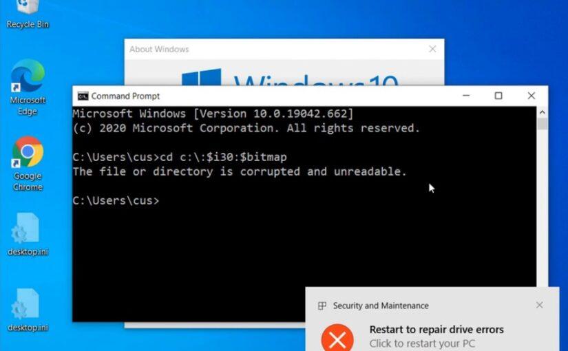 Найдена уязвимость NTFS